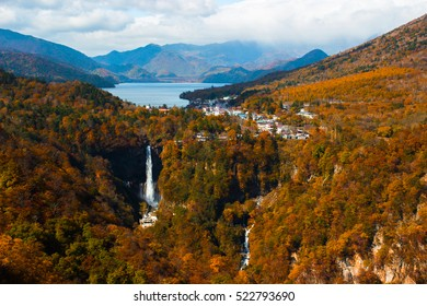 Autumn Colors seen from Akechidaira Observatory, Lake Chuzenji, Nikko, Japan - Shutterstock ID 522793690