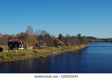 Autumn colours around the small rural town of Björbo in Dalarna,Sweden.