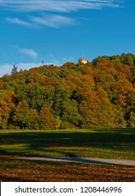 Autumn colours in Grant Park, Forres, Moray, Scotland