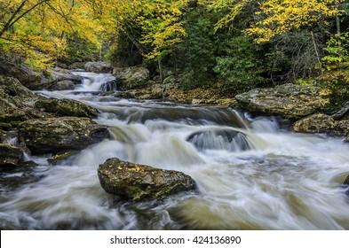Autumn, Cullasaja River, North Carolina