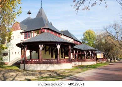Autumn day in the thermal spa resort and famous touristic complex Palic lake near Subotica in Serbia