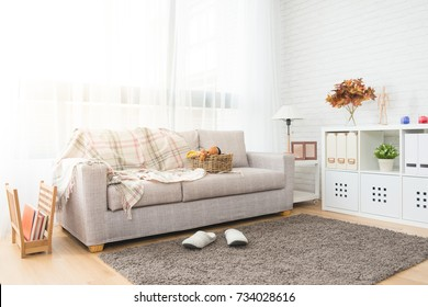 autumn decoration living room with nobody no people for copy space background