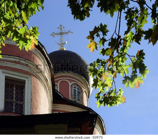 Autumn at Donskoi Monastery in Moscow, Russia