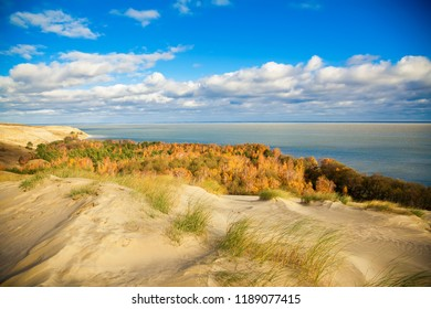 autumn in the dunes of Curonian Spit in Nida, Neringa, Lithuania