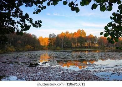 autumn evening in Masuria