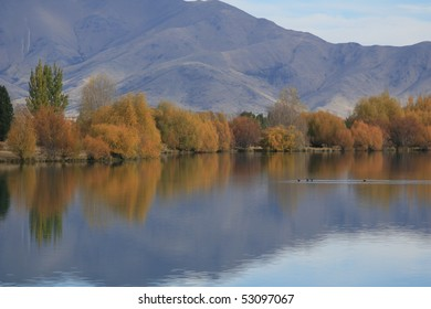 Autumn (Fall) in the Mackenzie Country, Canterbury, New Zealand