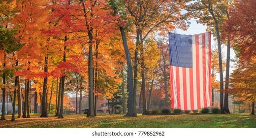 Autumn Flag Panorama Right