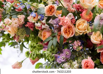 Autumn flower arrangement. Wedding flowers