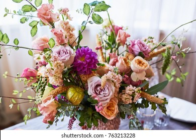 Autumn flower arrangement. Wedding flowers