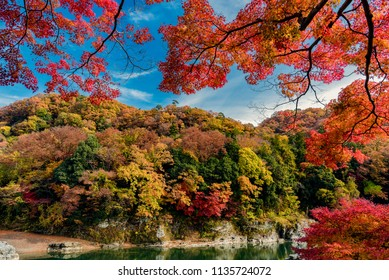 Autumn foliage in Nagatoro, Saitama, Japan