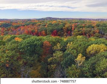 Autumn foliage near Traverse City in northern Michigan