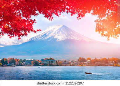 Autumn at Fuji mountain in Japan