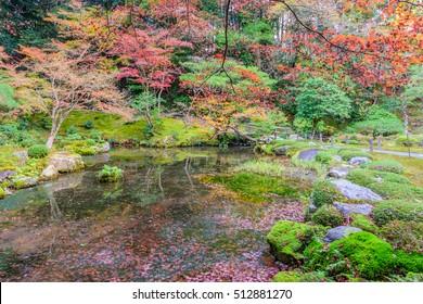 Autumn Ginkakuji (Silver Pavilion). Kyoto, Japan