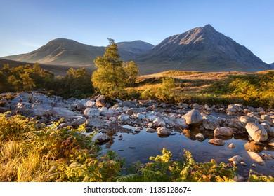 Autumn in Glencoe, Lochaber, Highland, Scotland, UK.