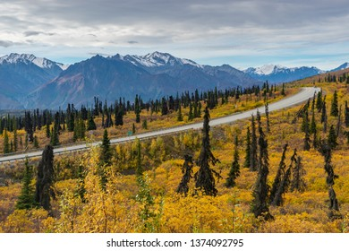 Autumn at Glenn Highway, Alaska, USA