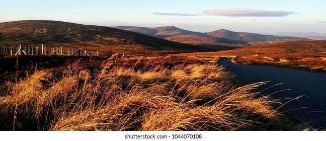 Autumn gold washing over Cairn o' Mount and the surrounding Aberdeenshire countryside
