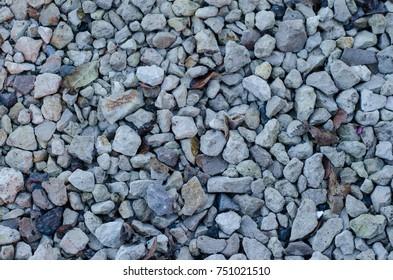 Autumn gravel floor on streets