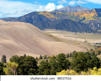 Autumn at the Great Sand Dunes National Park in Colorado