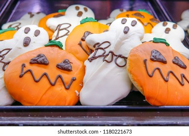 Autumn and halloween cookies at a local farmers market in Wisconsin