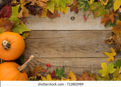 Autumn Holiday Background frame