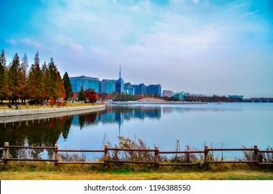 autumn at hosu park goyang city south korea