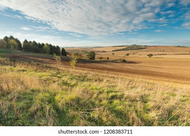 An Autumn image of farmland being prepared for the new season's crops In Rutland, England, UK. Englands smallest county.