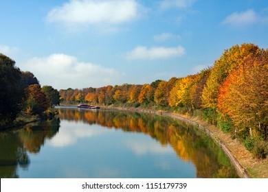 Autumn inland waterway