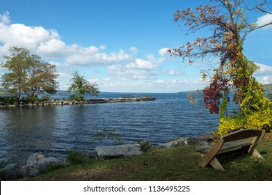 Autumn Inlet to Cayuga Lake one of the Finger Lakes of New York