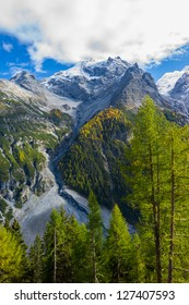 Autumn in the Italian mountains.  Mt. Ortles, South Tirol