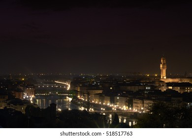 Autumn. Italy. Tuscany. Florence. View of the Duomo in the evening.Cokin filter.