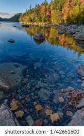 Autumn at Jordan Pond in Acadia National Park on Mount Desert Island, Maine, USA