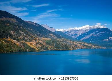 Autumn at Kinbasket Lake in British Columbia, Canada