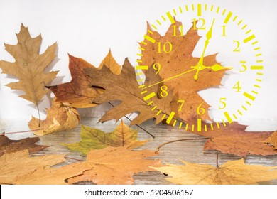 Autumn landscape abstraction. Fall back time. Daylight saving time.