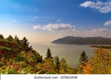 Autumn landscape of Baie St-Paul