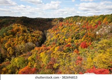 Autumn landscape in Dundas Peak, Ontario, Canada
