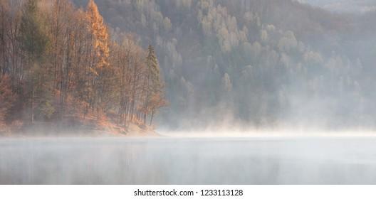 Autumn landscape at Firiza lake