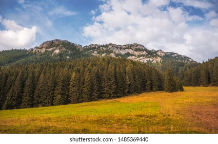 Autumn Landscape with Forest and Rocky Ohniste Hill in Slovakia - Shutterstock ID 1485369440