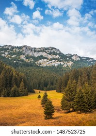 Autumn Landscape with Forest and Rocky Ohniste Hill in Slovakia - Shutterstock ID 1487523725