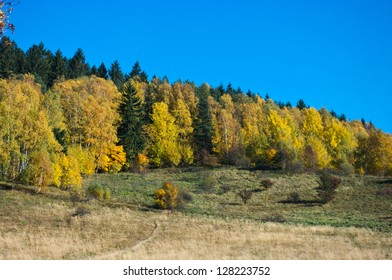 Autumn landscape in the hills