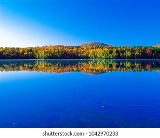 autumn landscape in laurentian mountains