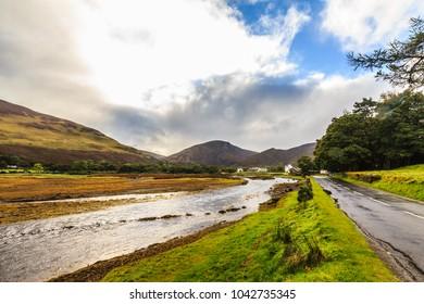 Autumn landscape of Lochranza, Isle of arran, Scotland, UK