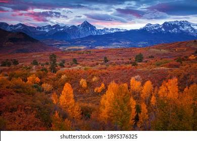 Autumn landscape in the mountains of Colorado's Dallas Divide