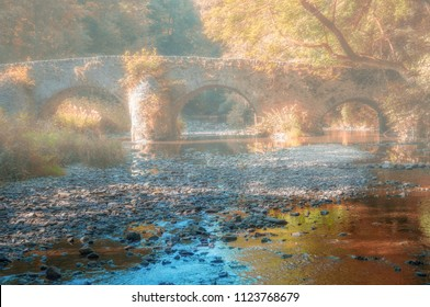 Autumn Landscape at Nister Bridge in Westerwald,Rhineland-Palatinate,Germany