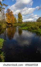 autumn landscape, Novgorod region, Russia