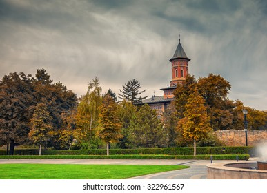 Autumn landscape of the Saint Nicholas Church in Iasi, Romania.