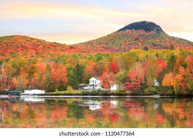 Autumn landscape in Vermont near Groton