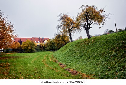 Autumn landscape in a village in Germany.