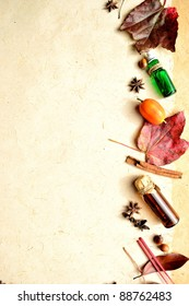 Autumn leaves and aromatherapy.