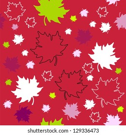 Autumn leaves  background, seamless.