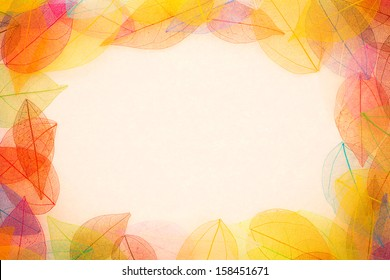 Autumn leaves frame. Abstract background